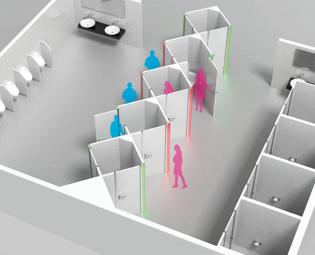 トイレの待ち時間を劇的短縮!一部個室を共同にするデザインが秀逸すぎる